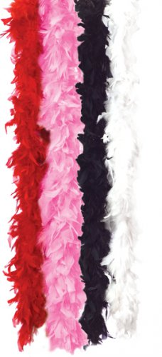 Feather Boa Fashion Flapper Costume Accessory - White #60113_White