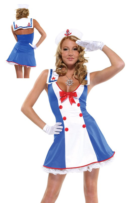 Overboard Sexy Sailor Adult Costume Size: Small/Medium #550016