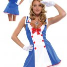 #550016 Overboard Sexy Sailor Adult Costume Size: Small/Medium