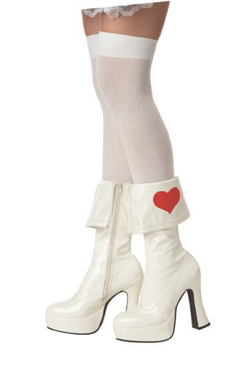 Alice In Wonderland Platform Boot Costume Shoes Size: Medium