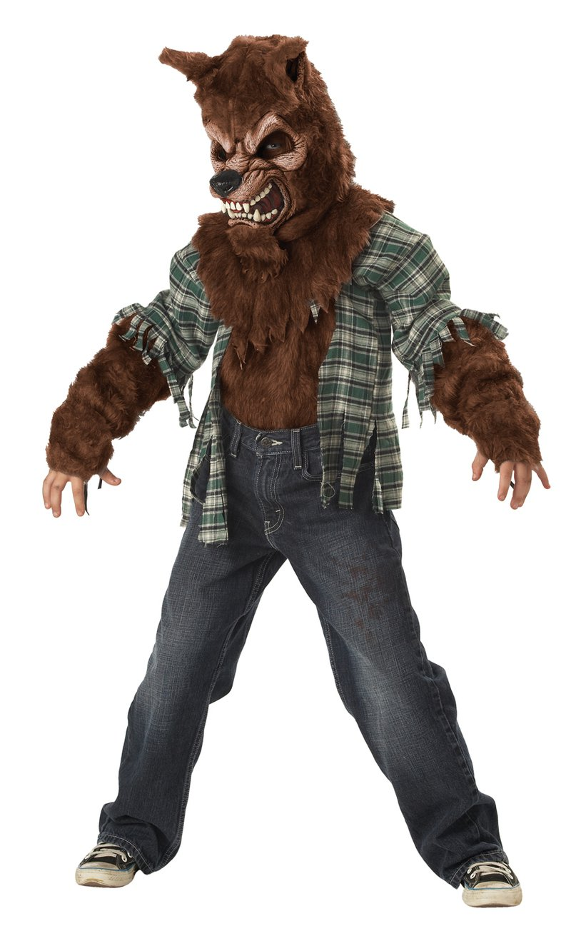 Werewolf Howling at the Moon Child Costume Size: Large #00296