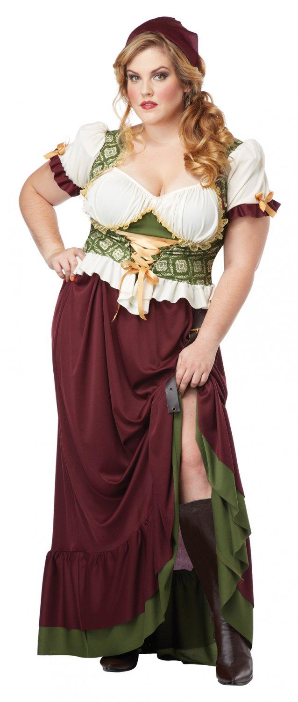 Renaissance Wench Tavern Maiden Adult Plus Size Costume: 2X-Large #01705