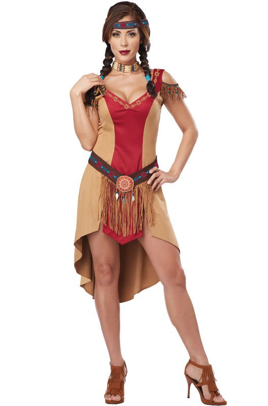 Thanksgiving Indian Native Beauty Adult Costume Size: Medium
