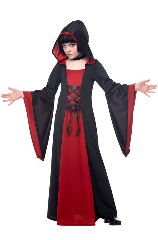 Gothic Monk Hooded Robe Child Costume Size: Medium  #00383