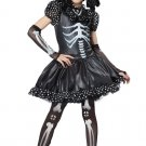 Gothic Skeleton Girl Child Costume Size:X-Large #00391