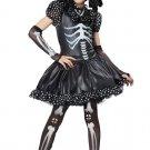 Gothic Skeleton Girl Child Costume Size:X-Large #00391