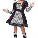 Gothic Raggedy Ann Doll Child Costume Size: Small  #00392