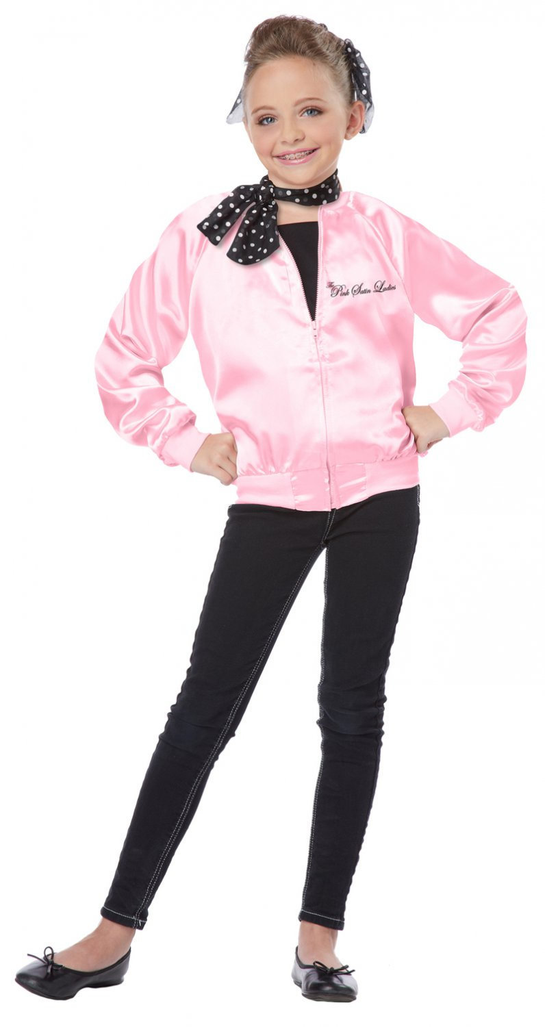 Size: Small #00412  Grease Pink Satin Ladies Child Costume