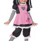 Rag Doll  Raggedy Ann Toddler Costume Size: Large #00136