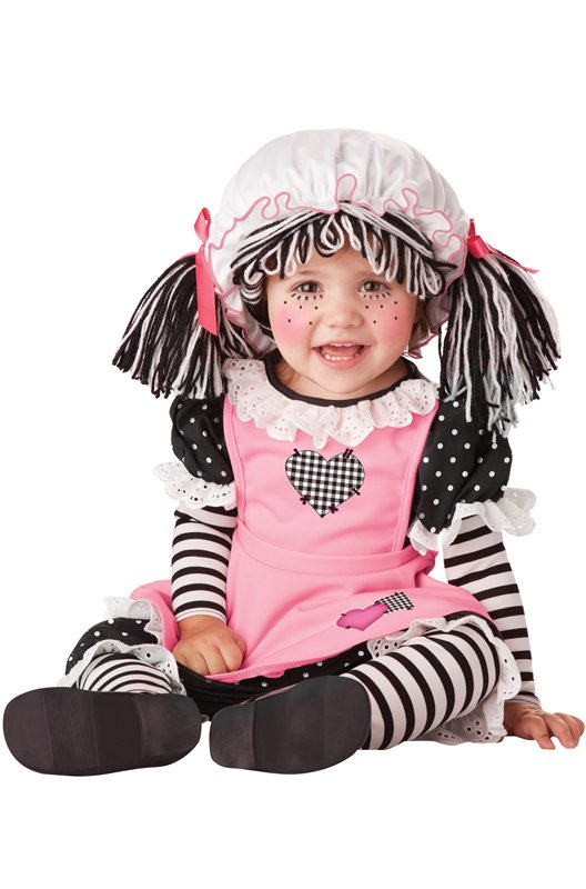 Raggedy Ann Baby Doll Infant Costume  Size: Medium #10029