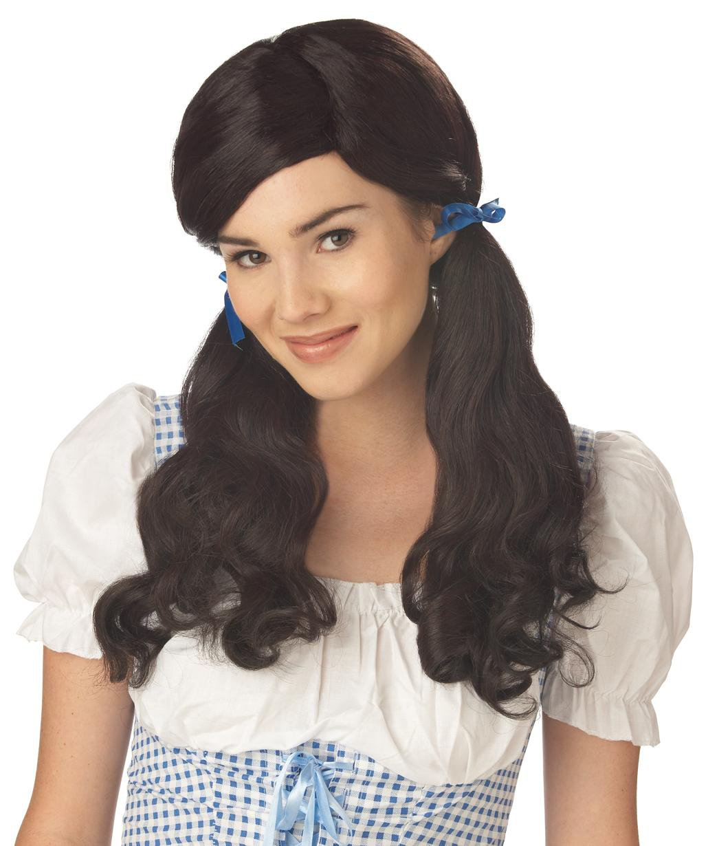 Sweet Farm Girl Adult Costume Wig