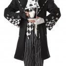 Dark Mad Hatter Alice In Wonderland Adult Costume Size Small #01101