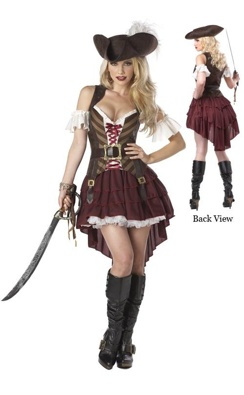 Sexy Swashbuckler Pirate Adult Costume: X-Small #01164