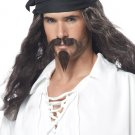 Pirate Adult Costume Wig with Moustache and Chin Patch #70721