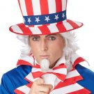 Uncle Sam USA Freedon Adult Costume Wig & Chin Patch #70735