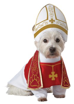 Size: Large #20127 Bishop Priest  Cardinal Holy Hound Pope Pet Dog Costume