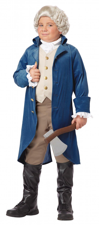 USA President Colonial George Washington / Thomas Jefferson Child Costume Size: Medium #00429