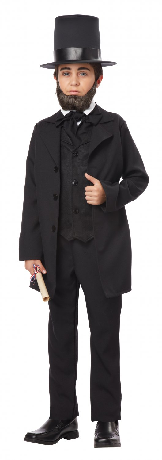 President Abraham Lincoln Colonial Child Costume Size: X-Large #00432