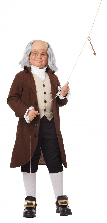 Size: Medium #00435  American Revolution Benjamin Franklin Colonial Child Costume