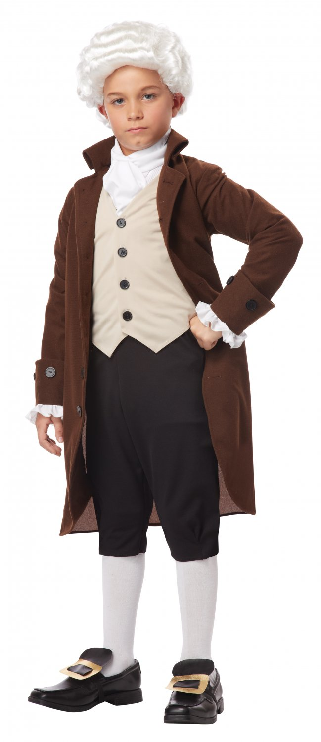 Size: Large #00435  Inventor Patriotic Benjamin Franklin Colonial Child Costume