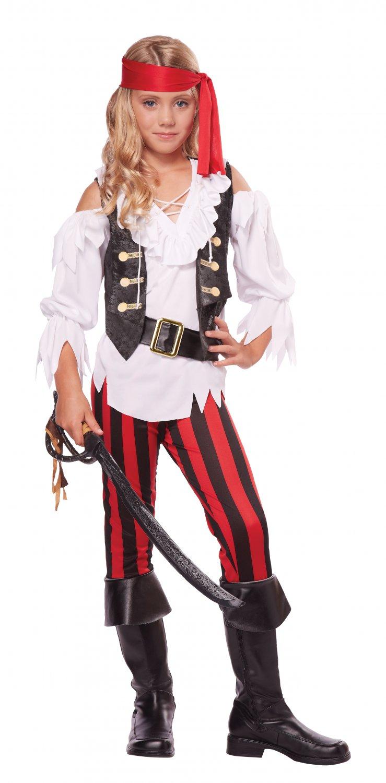 Size: Medium # 00450 Posh Pirate Buccaneers Pirate Black Beard Child Costume