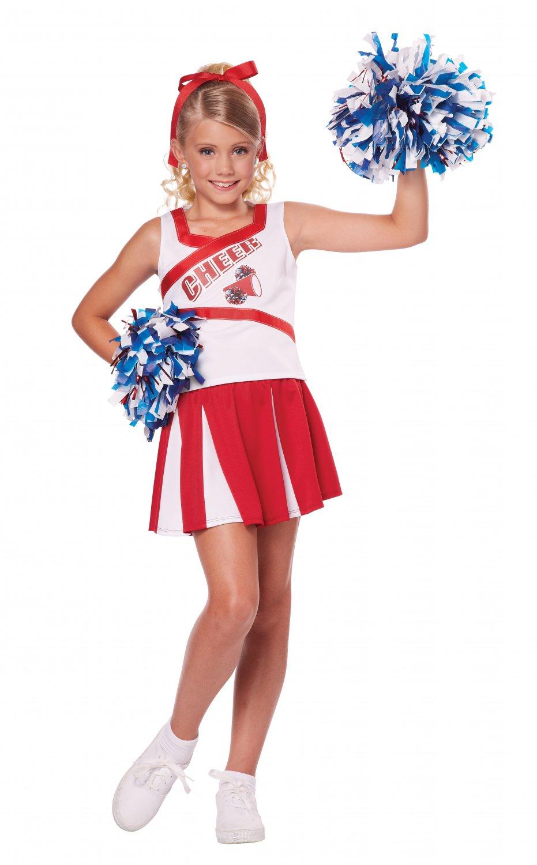 Size: Small #00456  Patriotic U.S.A. High School Cheerleader Child Costume