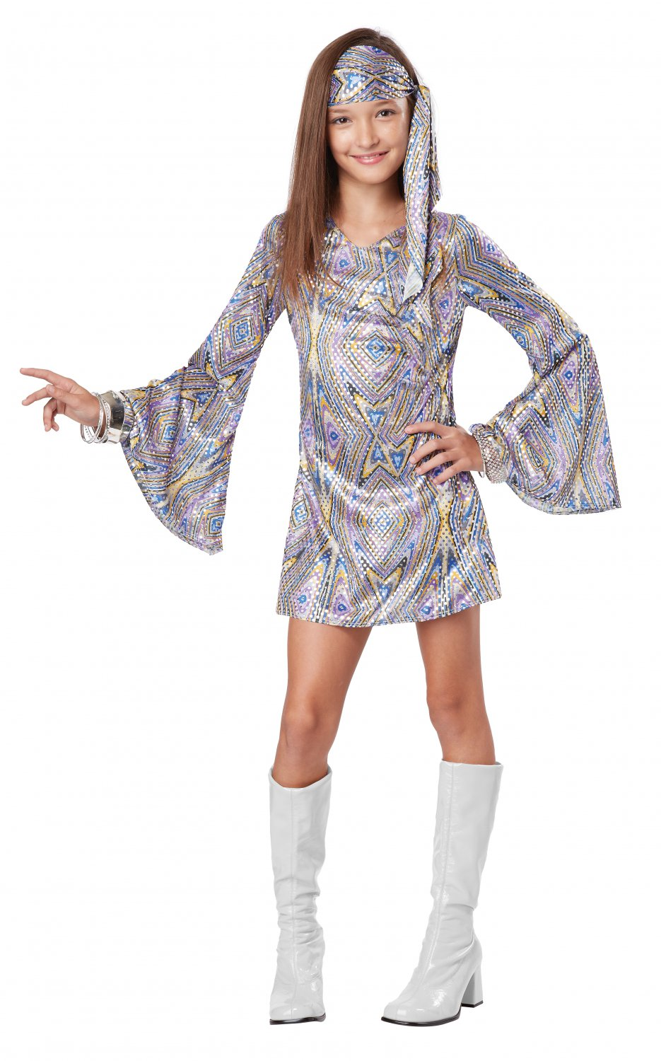 Disco Darling Flower Child Costume Size: X-Large #00464