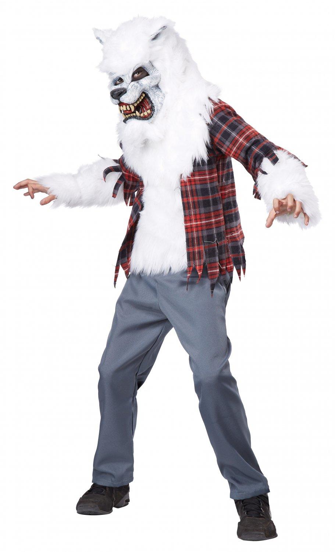 Size: Large #00465  Twilight White Werewolf Child Costume