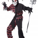 Sinister Jester Clown Child Costume Size: X-Large #00466