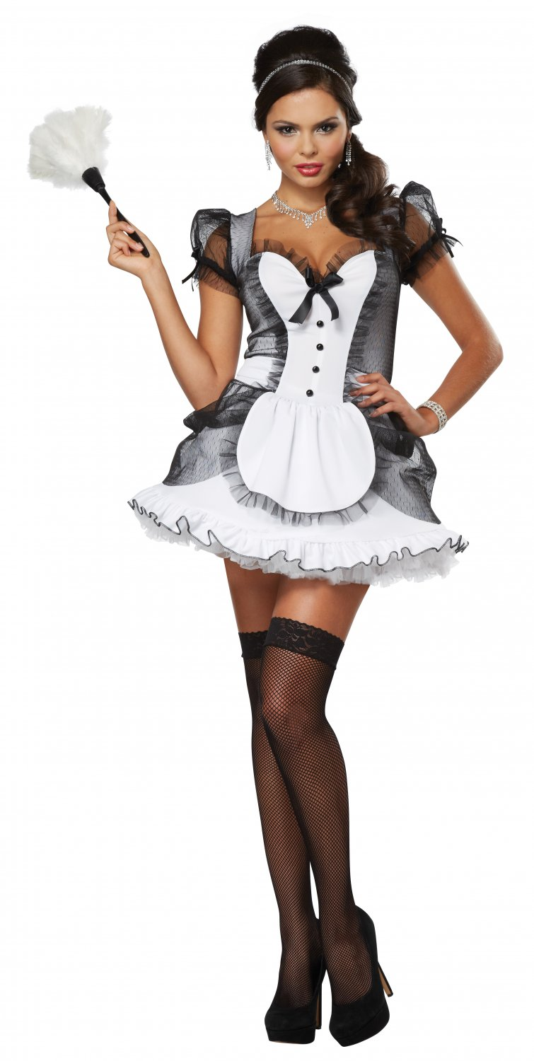 Luxe Naughty Sexy French Maid Adult Costume Size: Large #01335