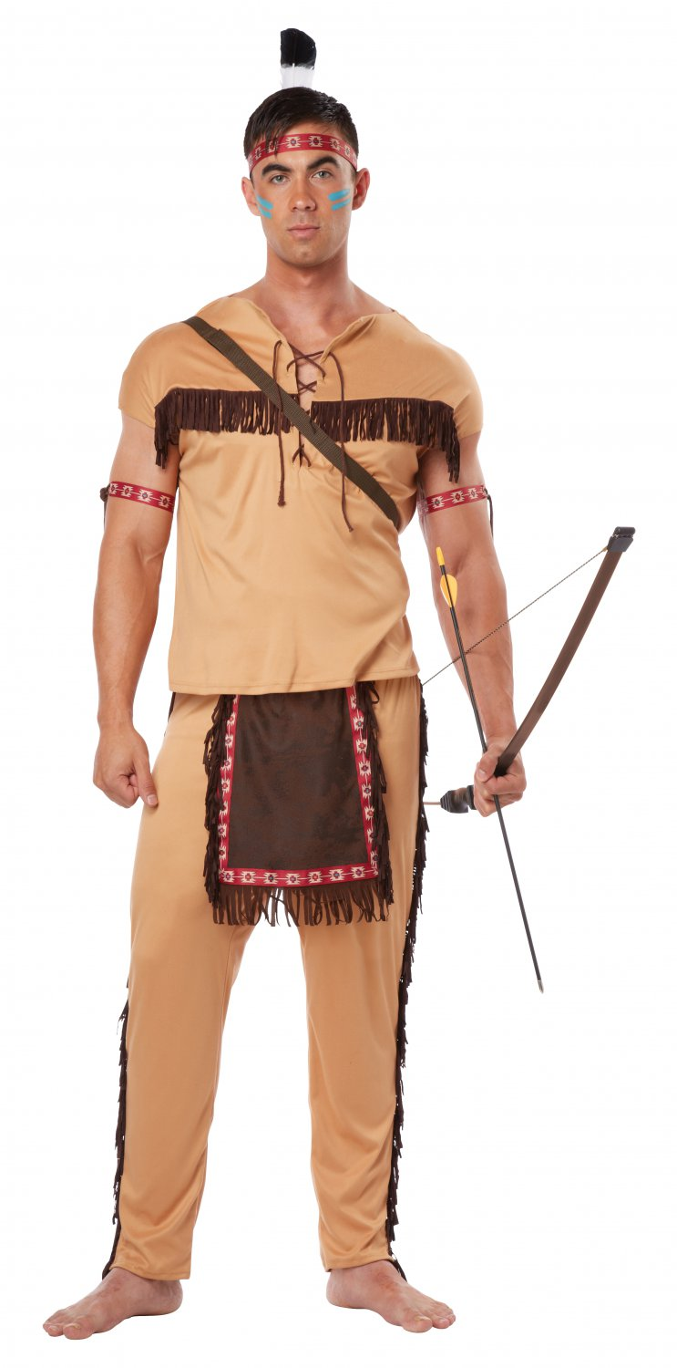 Size: Small #01314 Thanksgiving Indian Native American Brave  Adult Costume