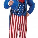 Patriotic USA Uncle Sam  Adult Costume Size: Medium #01309