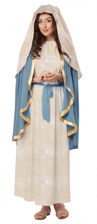 Christmas Nativity Biblical Virgin Mary Adult Costume Size: Large #01316