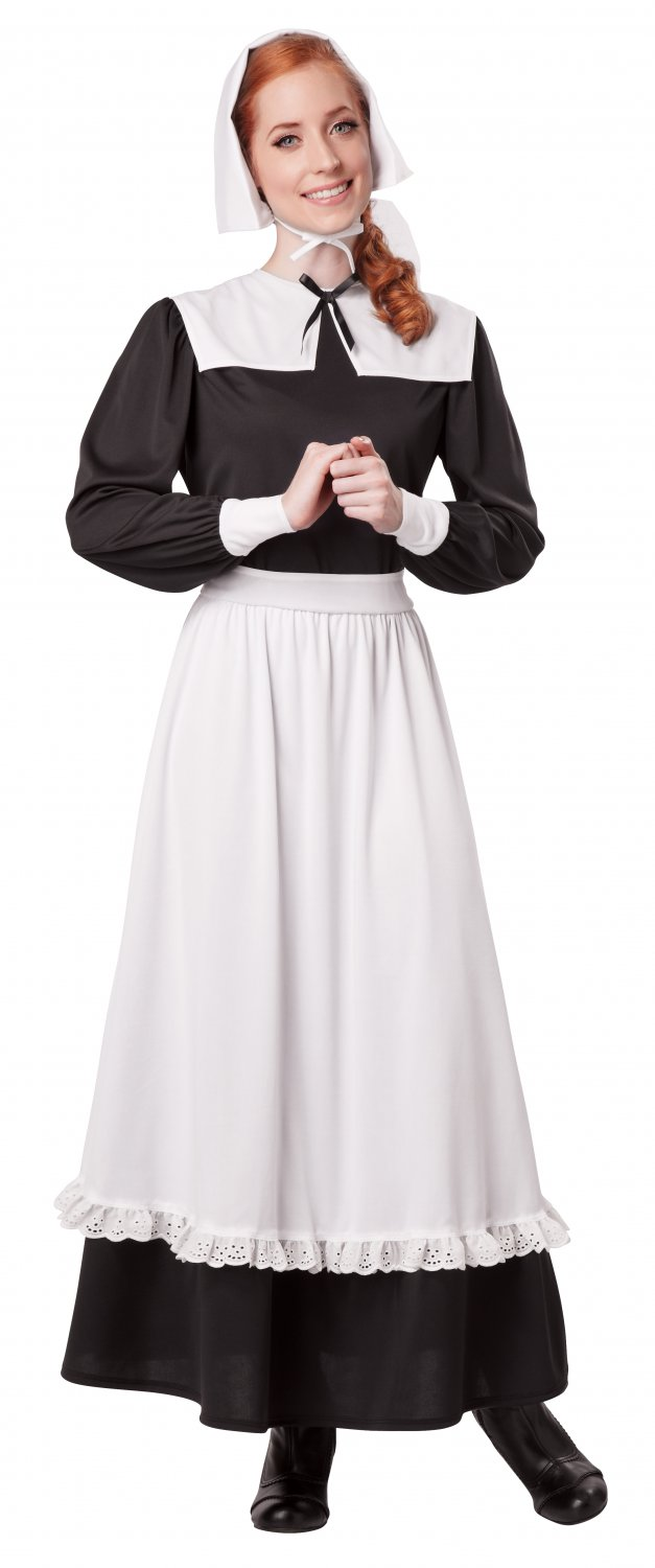 Pilgrim Woman Thanksgiving Colonial Adult Costume Size: Large #01311