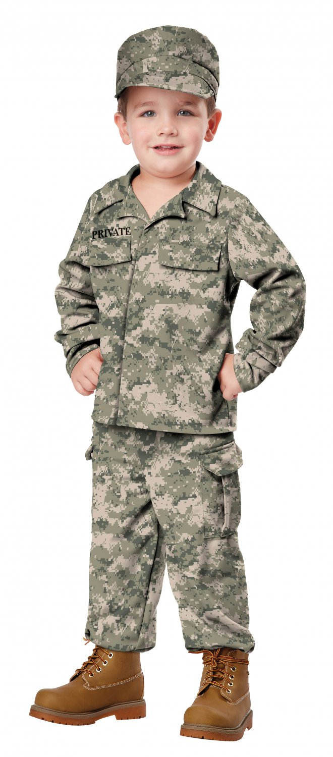 Size: Medium #00163 Camouflage U.S.A. Army Marine Navy Military Soldier Toddler Costume
