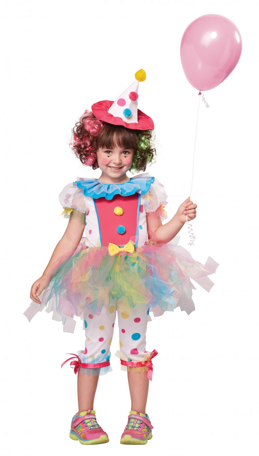 Circus Rainbow Clown Toddler Costume Size: Large #00159