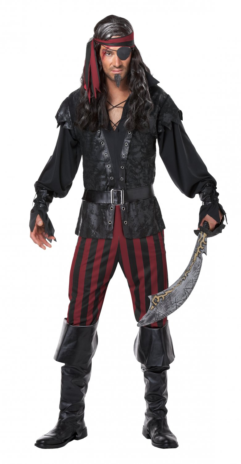Size: Large #01353 Buccaneer Gothic Pirate Ruthless Rogue Adult Costume