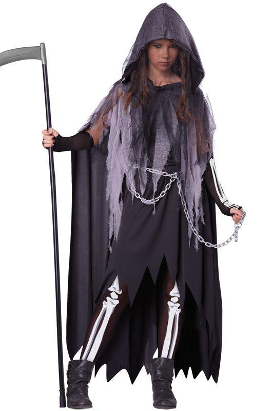 Miss Grim Reaper Dark Gothic Punk Rock Tween Costume Size: X-Large #4082
