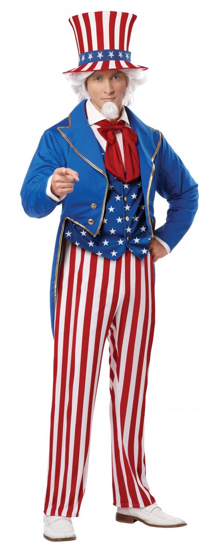 USA Patriotic Uncle Sam Plus Size Adult Costume #01727