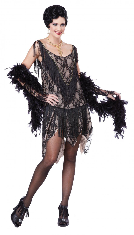 Gatsby Gal Fashion Flapper Adult Costume Size: X-Large ##01344