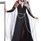 Grim Skeleton Lady Reaper Adult Costume Size: Large #01333