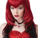 Gothic Dracula Temptress Vampire Adult Costume Wig - Red & Black #70783