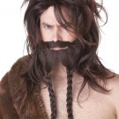 Games of Thrones Nordic Viking Wig, Beard & Moustache Adult Costume - Brown #70775