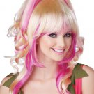 Sugar and Spice  Adult Costume Wig - Pink & Blonde #70757