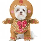 Size: Medium #20133  Santa Claus Christmas Gingerbread Pup Pet Dog Costume
