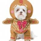 Size: Large #20133  Santa Claus Christmas Gingerbread Pup Pet Dog Costume