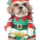 Size: Medium #20132 Santa Claus Christmas Elf Pup Pet Dog Costume