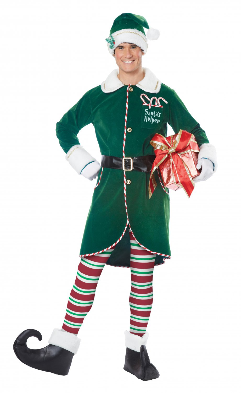 Size: Small/Medium #01555 Santa Claus Christmas Work Shop Elf Adult Costume