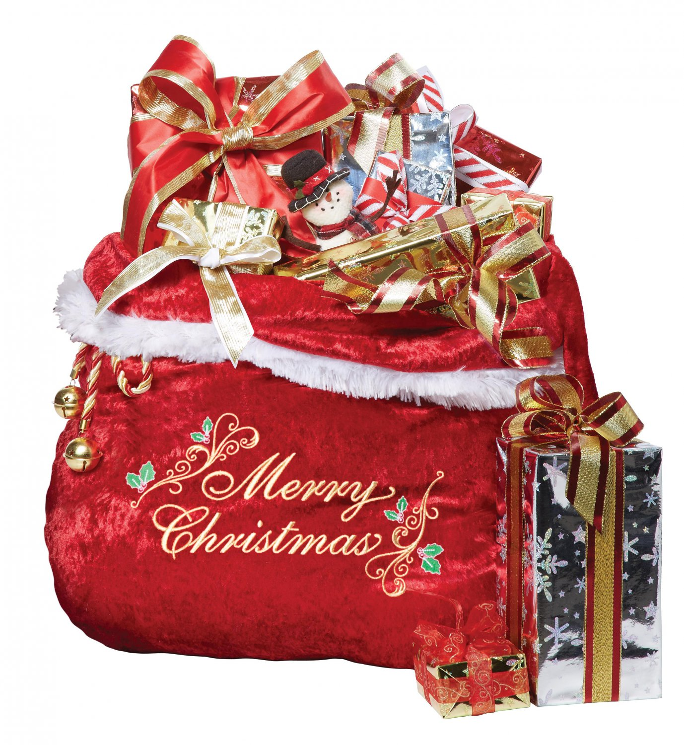 Christmas Embroidered Santa's Bag Accessory #60635