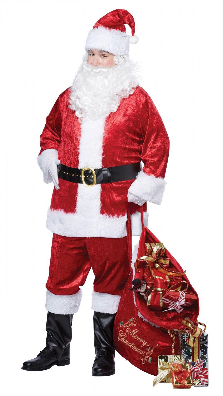 Size: Small/Medium Item# 01150  Classic Christmas Santa Claus Suit  Adult Costume